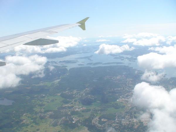 柏林往瑞典斯德哥爾摩的機上