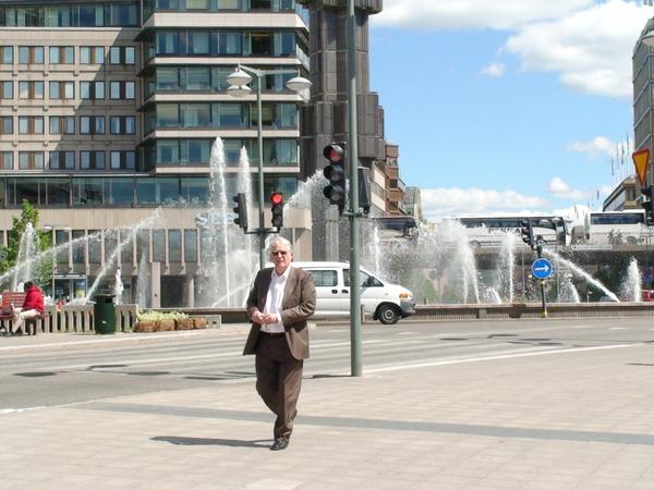 街頭的噴水廣場
