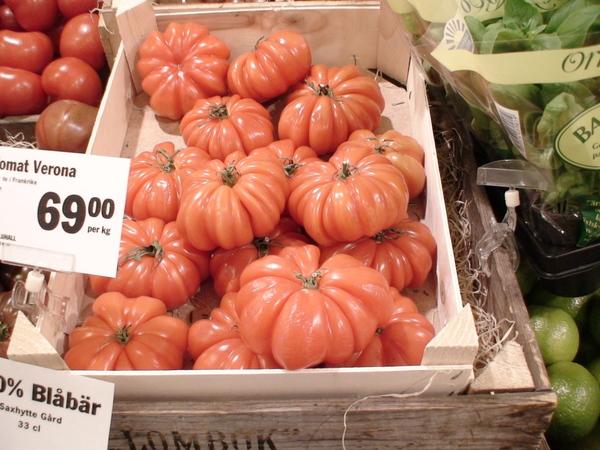 斯德哥爾摩超市賣的番茄