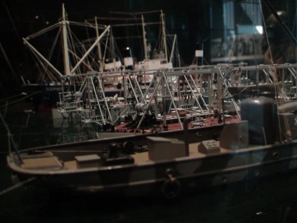 解說如何打撈瓦薩號的模型