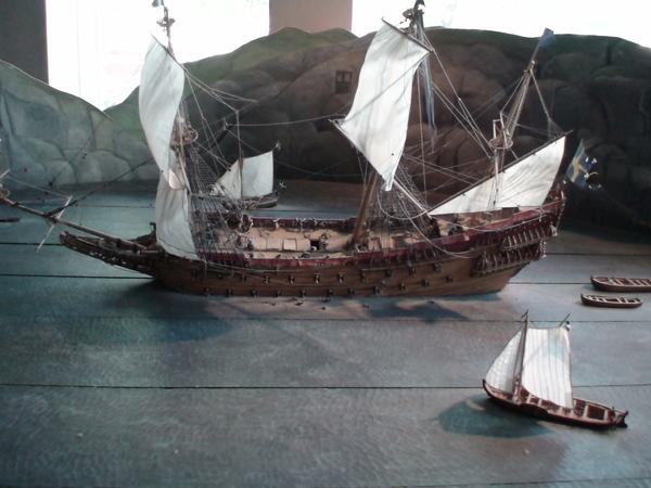 瓦薩號的模型