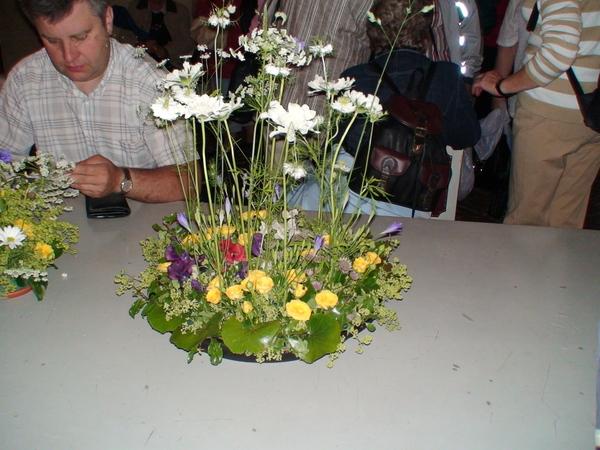 市政廳美麗的桌花裝飾