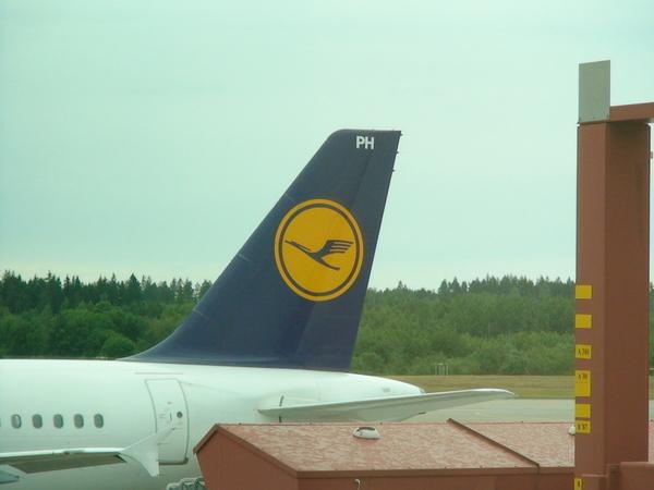 德國漢莎航空--據說沒有冷氣