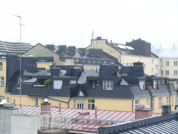 赫爾辛基的屋頂風光