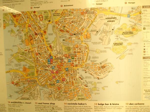 赫爾辛基地圖