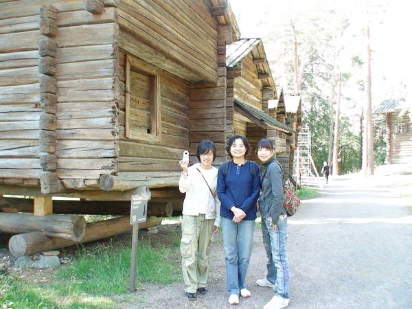 芬蘭古早的木建築