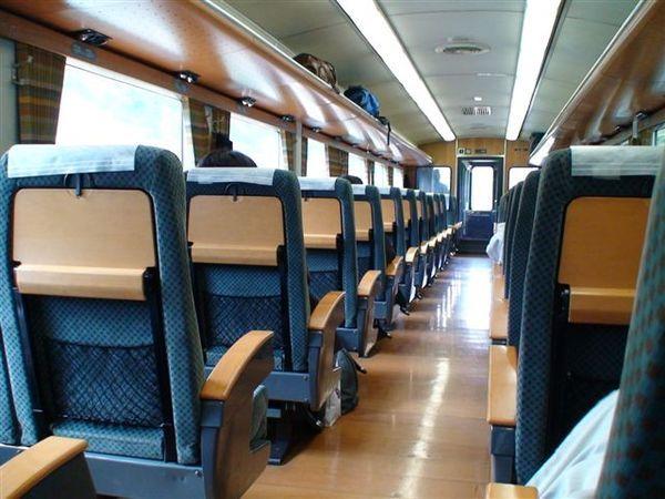 601車廂內的地板,椅背,扶手,置物櫃都是木頭製.JPG