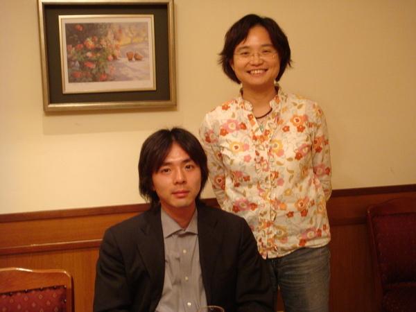 我與小比田老師合影