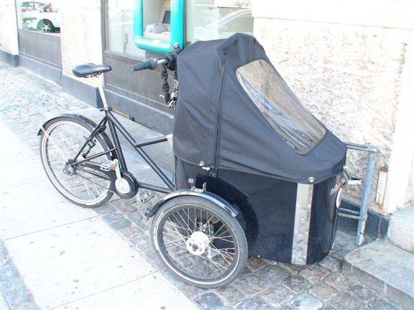 丹麥常見的嬰兒車.JPG