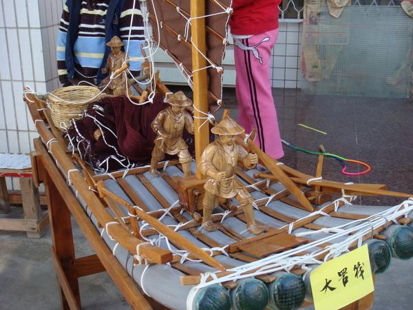 竹筏模型2