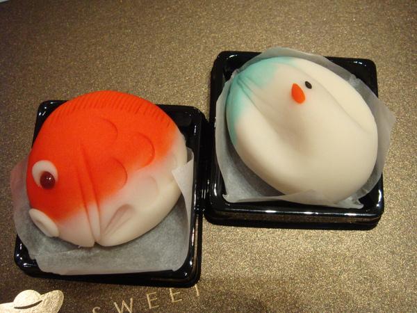金魚與丹頂鶴