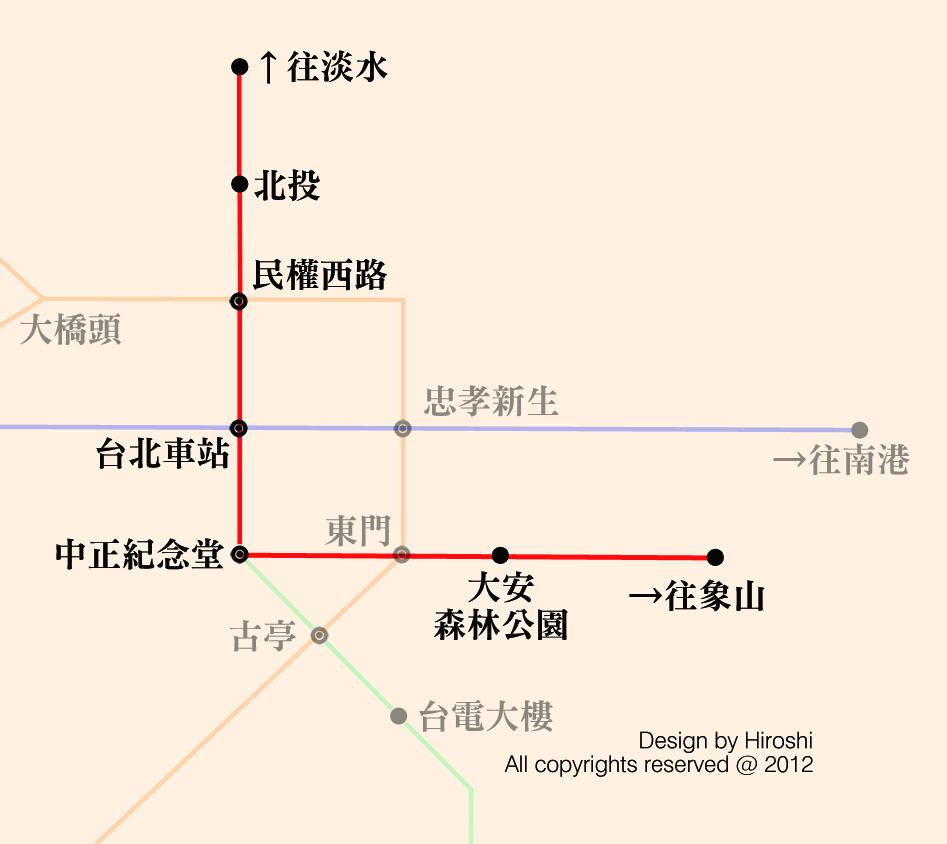 信義線路線圖
