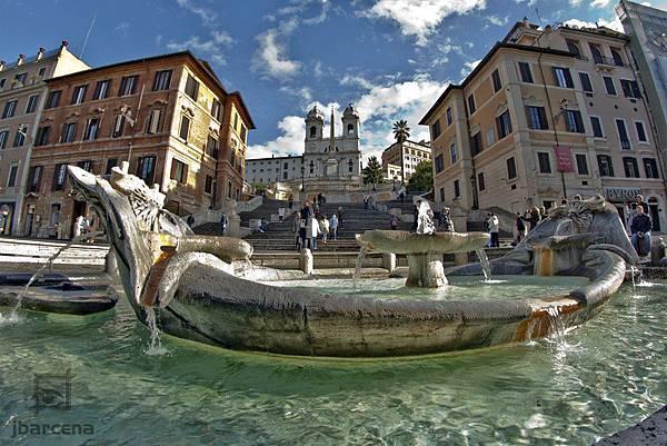 Spanish-Steps-and-Fontana-della-Barcaccia-Rome-Lazio-Italy2