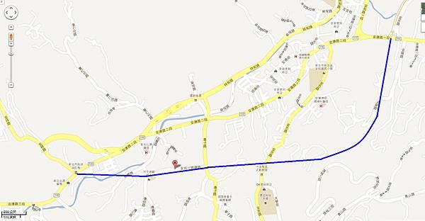 安坑一號道路路線圖 google
