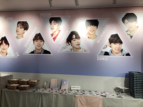 2018 SEVENTEEN CAFE in SHIBUYA