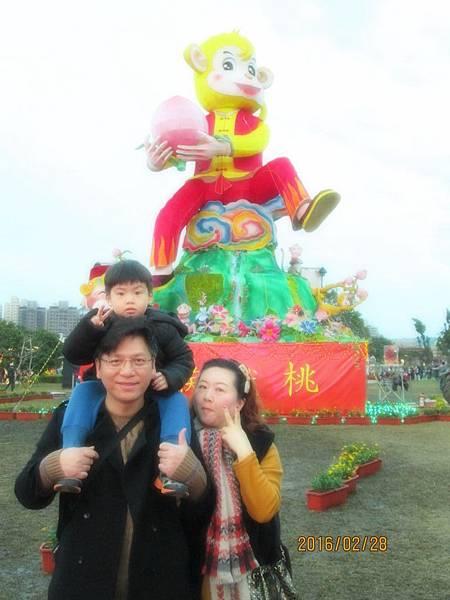 台灣燈會中路風禾公園區祥猴獻桃 (5).JPG