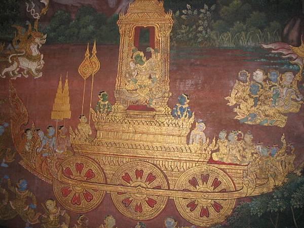 玉佛寺裡的壁畫I
