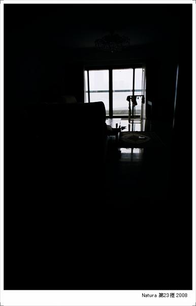 上海家中的客廳 黃昏時