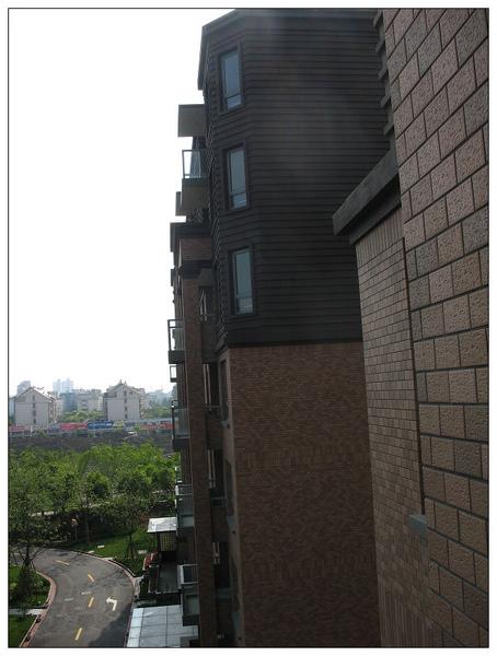 從陽台看出去右邊一角