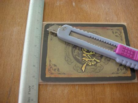 牌套切割工具準備