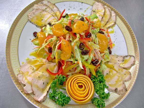 香橙鮮蔬雞肉沙拉