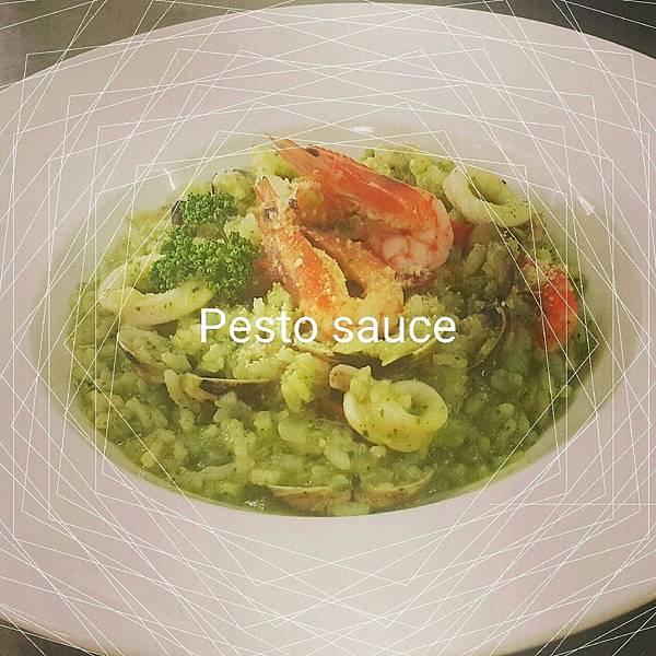 義式青醬海鮮燉飯