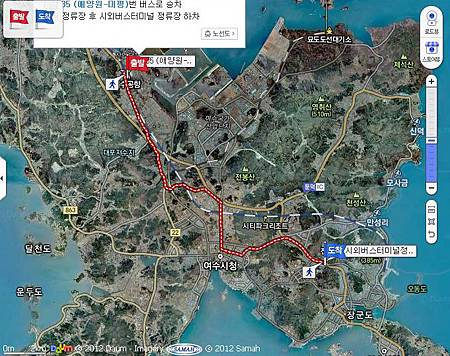 yeosu airport to yeosu bus terminal map