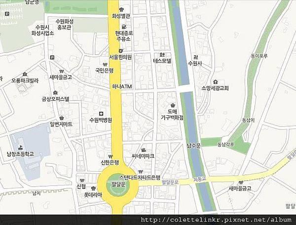 水原華城入口map