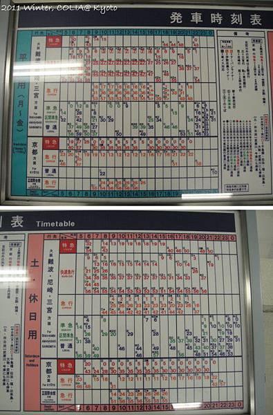 近鐵奈良站時刻表.jpg