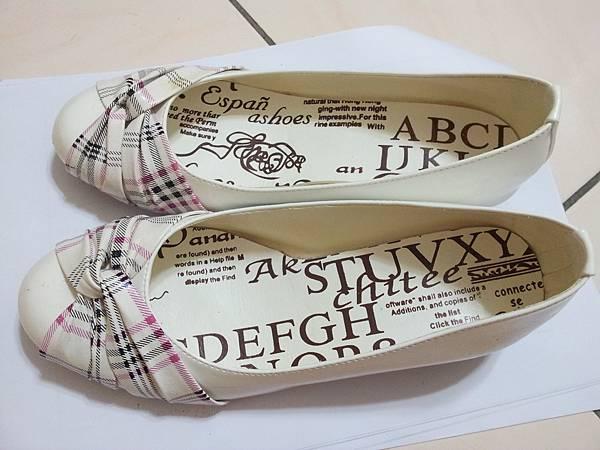 低跟氣質娃娃鞋23(白)購入175售100