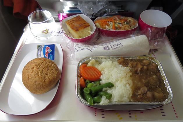 口感還不錯吃的飛機餐
