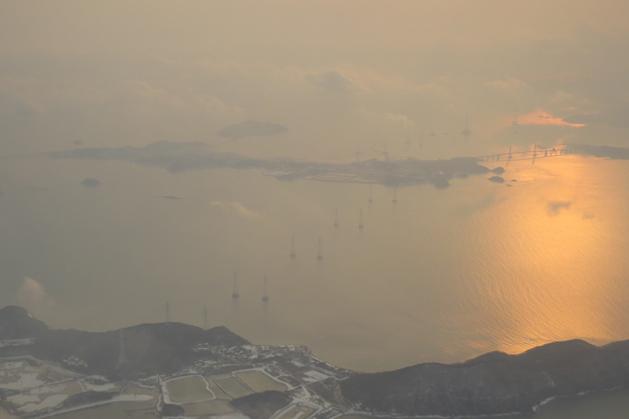 快到達首爾的海邊景色