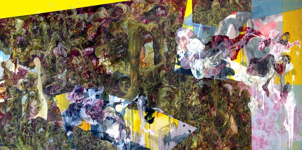 喋喋,油彩、畫布,194×390 cm,2006