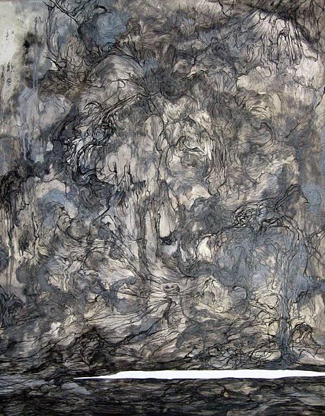 《擾流》 116.5x91cm 2005 油彩