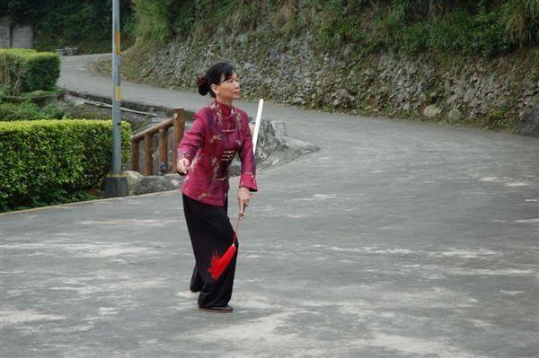 鄭子太極劍DVD拍攝現場(彩鳳老師)