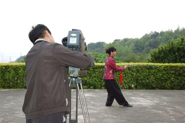 鄭子太極劍DVD拍攝現場(側拍)