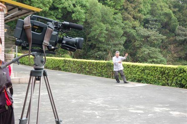鄭子太極劍DVD拍攝現場(周佰志老師)