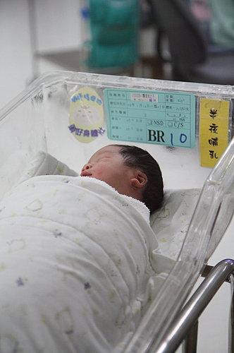 靜靜的睡在嬰兒室裡