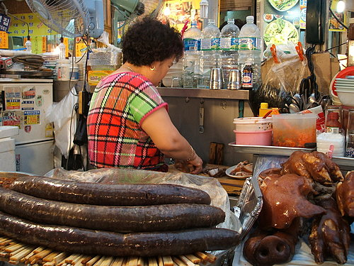 東大門市場:挺肥的香腸?