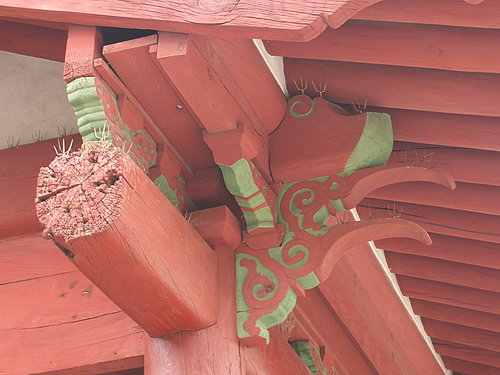 世界文化遺產:宗廟(防止鳥類停駐的設施)