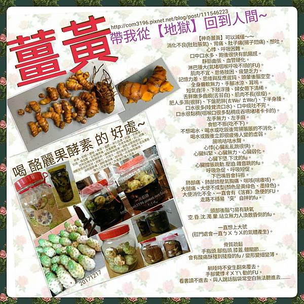 薑黃(粉)/酪麗果酵素好處功效作用禁忌吃法做法20171220