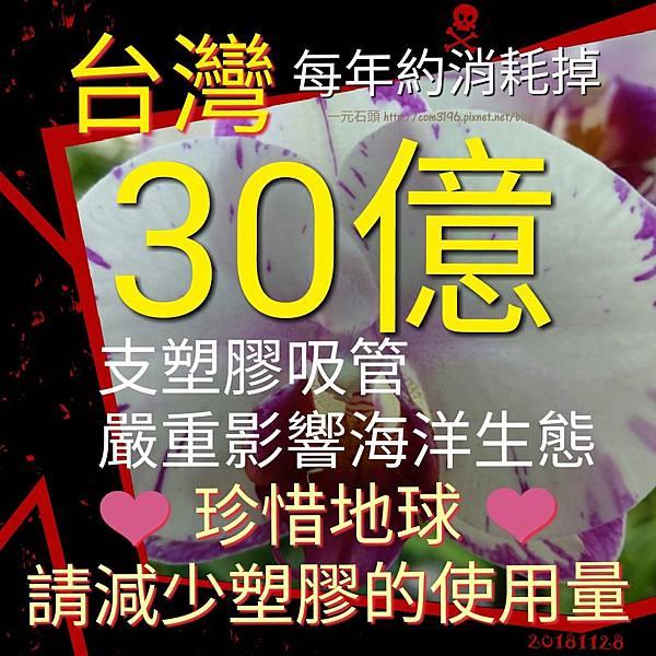 ❤( 30億 支塑膠吸管 ) (限塑政策) 台灣每年約消耗掉30億支塑膠吸管!!!