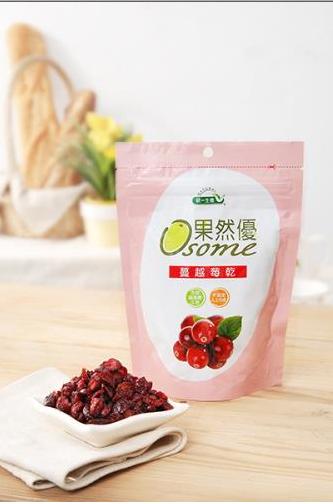 果然優蔓越莓乾切片袋裝2