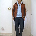 20090109 皮衣外套+帽夾