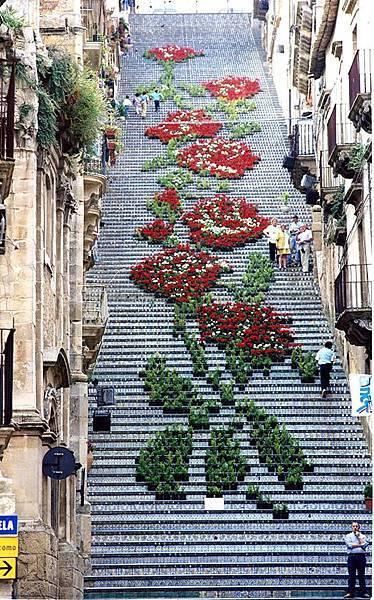 世界上最美的階梯之一Italy