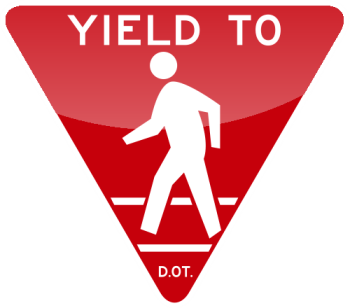 14_YIELD TO PEDESTRAIN  (禮讓行人)