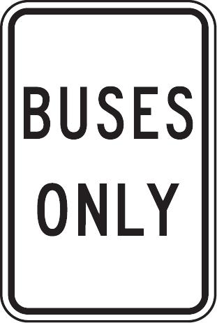 28_Buses Only 只准公共汽車通過