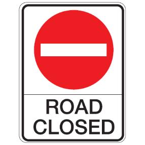 26_ROAD CLOSED 道路關閉 NOT A THROUGH STREET此路不通