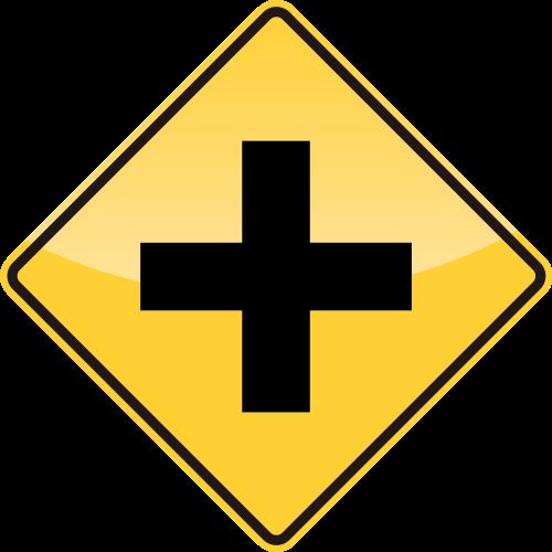 32_CROSS ROAD AHEAD 前方十字路口