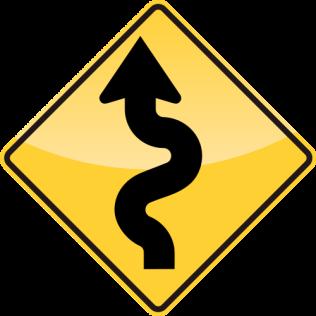 41_WINDING ROAD LEFT AHEAD 前方彎曲道路